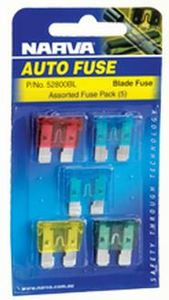 (5) Assorted Blade Fuses